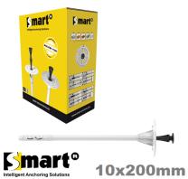 Isolatieplug met kunststof slagpen 10x200mm (=200st.) Isolatiepluggen